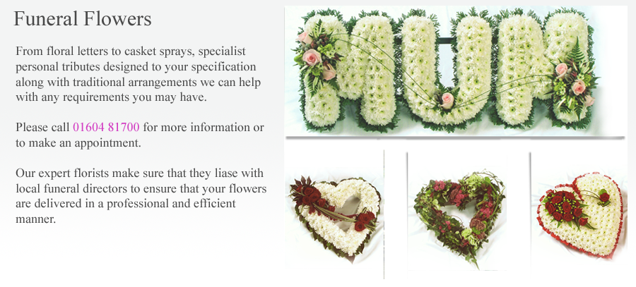 Funeral Flowers Northampton by Miss Lillies Florist